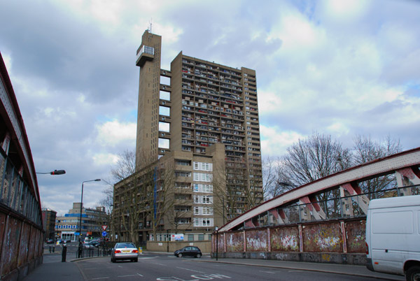 Trellick Tower across the bridge