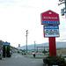 Canadian images: sign of the motel in Merritt where I slept