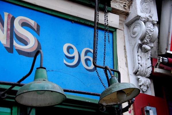96 on blue