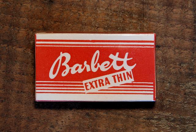 Razor blades: Barbett