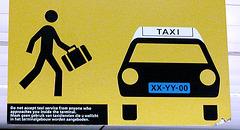 Mr. Stick takes a taxi