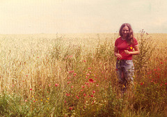 Joanne and Poppies, 1974