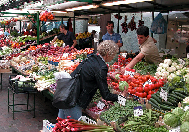 Holiday day 3: Vegetable market in Bozen (Bolzano)