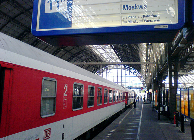 The train from Amsterdam to Moscow