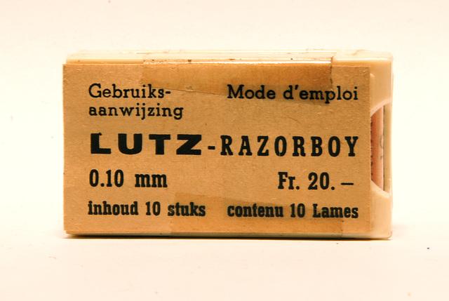 Razor blades: Lutz