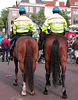 Police on horseback – the rear