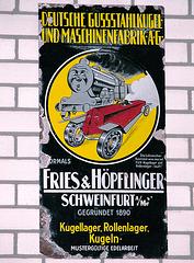 Ford museum: Advertisement for Fries & Höpflinger ball bearings