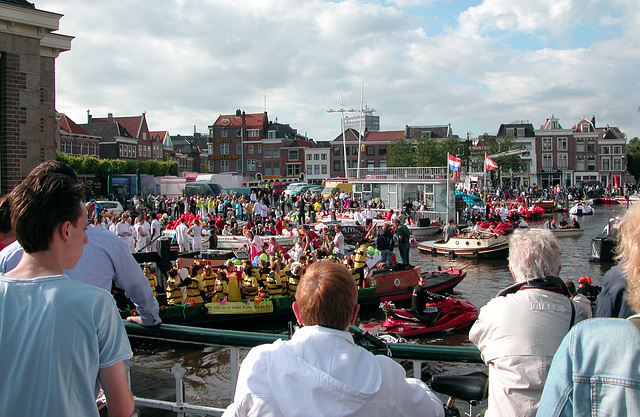 Boat parade in Leiden today