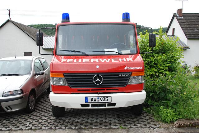 A weekend in the Eifel (Germany): Fire truck of Jammelshofen