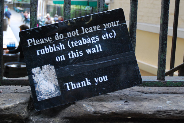 No teabags please
