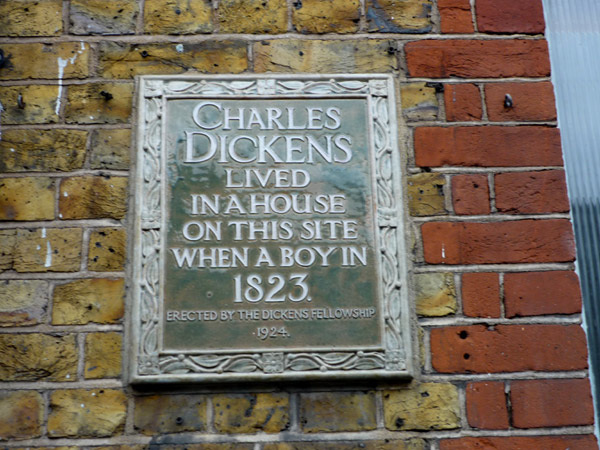 Charles Dickens lived here