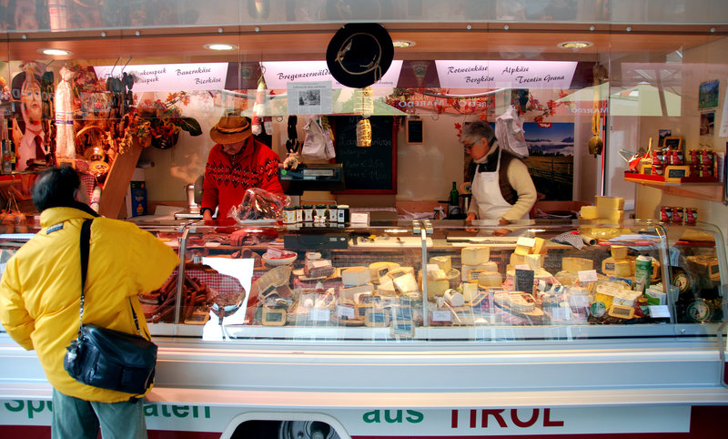 Specialties from Tirol on the Duisburg market