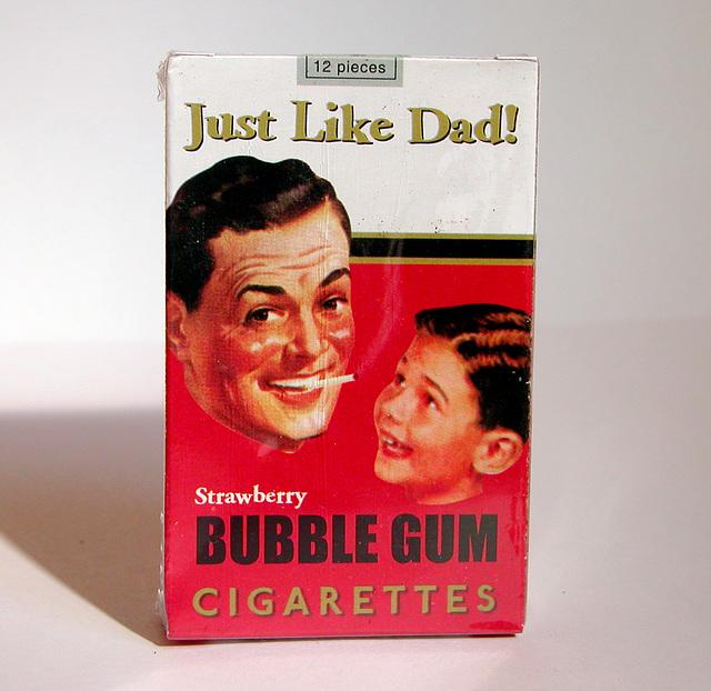 Old products: Bubble Gum Cigarettes