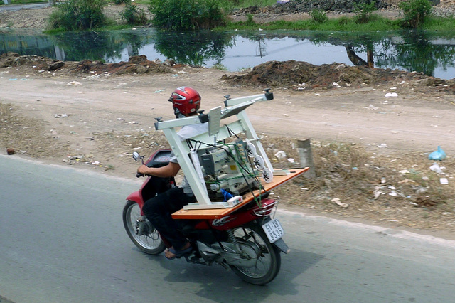 Sewing Machine in Transit