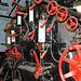 Controls on a steam engine