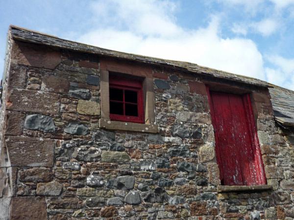 Red window and door