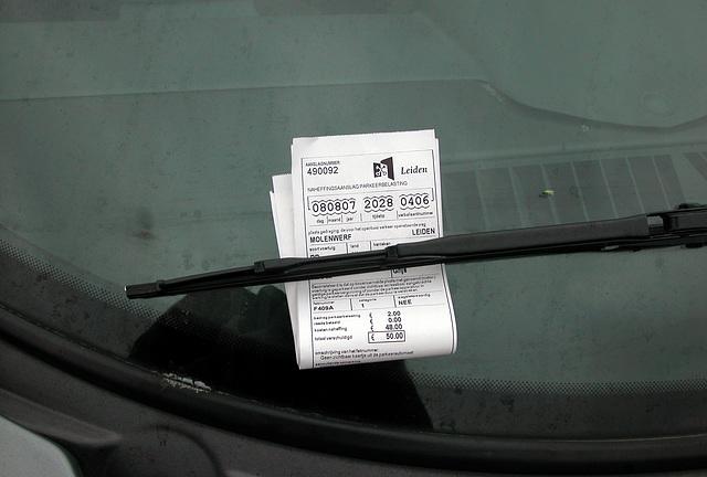 Parking ticket in Leiden