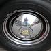 Oldtimer day in Emmen: me reflected in a hubcap
