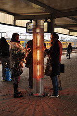 Hot pillar on Leiden Central Station