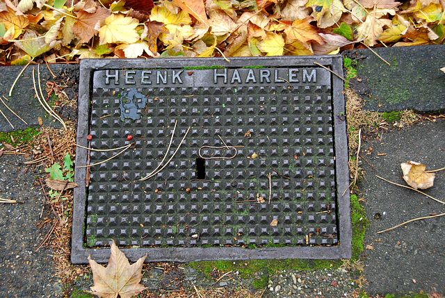 Drain cover of Heenk IJzerwaren of Haarlem (NL)