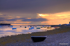 Findhorn Village Yacht basin in the bay - early evening, mid-July