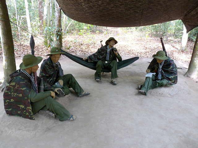 Effigies of Viet Cong Soldiers Holding a Meeting