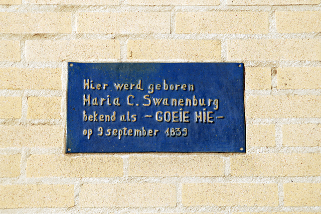 Stone commemorating the birthplace of serial murderess Maria Swanenburg