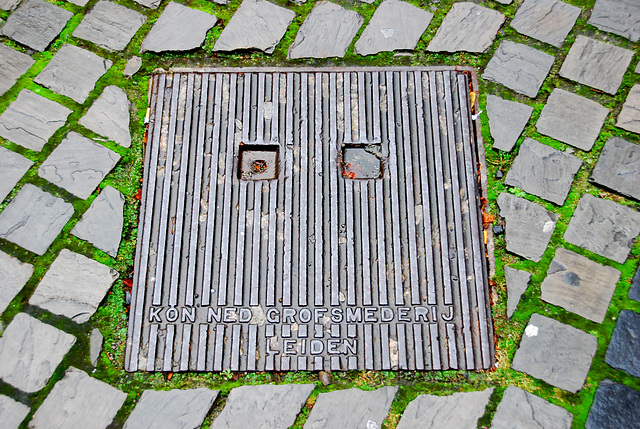 Manhole cover of the Nederlandse Grofsmederij