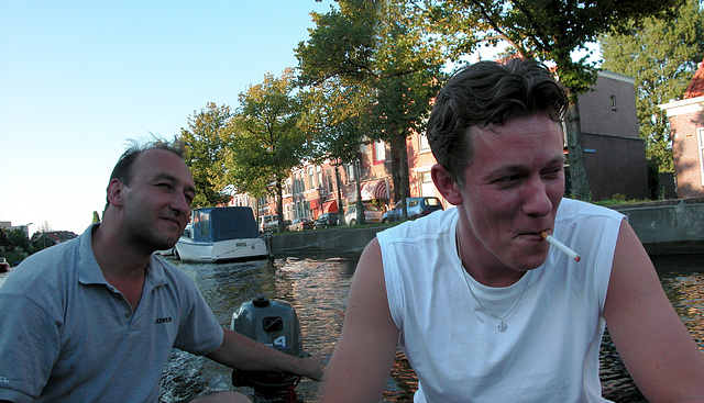Boating in Leiden: Smoking on boats is still allowed