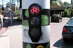 Red light for cyclists