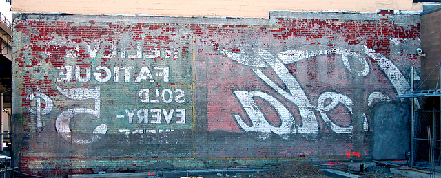 Faded wall ad in Portland, Oregon