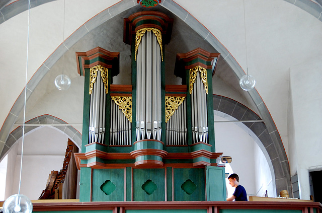A weekend in the Eifel (Germany): Monreal church organ