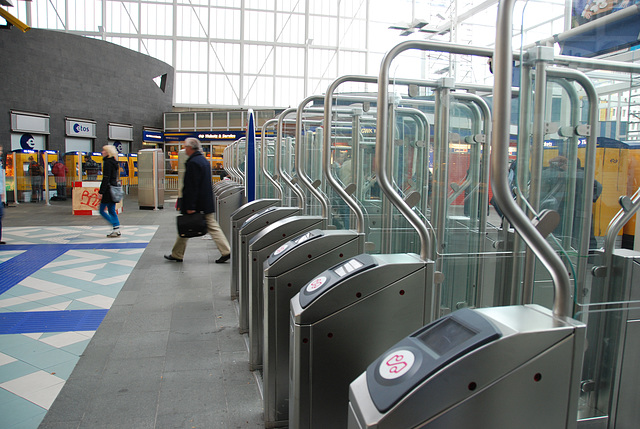 Gates at Leiden Station