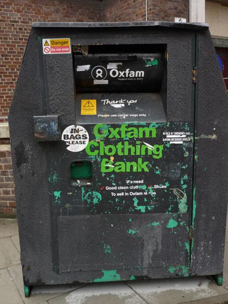Oxfam clothing bank