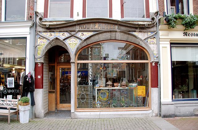 Art-Nouveau shop front in Kampen