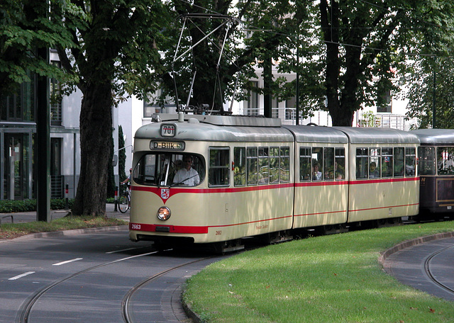 Old tram in Düsseldorf (Germany)