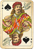 Dutch playing cards from 1920-1927: Jack of Spades