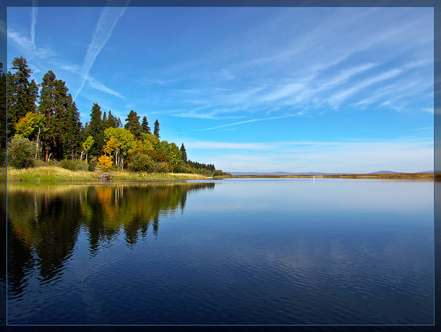 Upper Klamath Lake and Autumn Shoreline