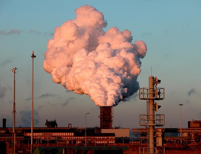 Steel works Corus in IJmuiden (NL)