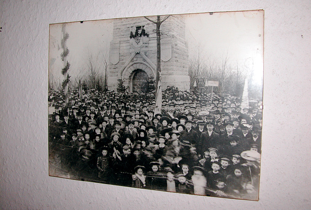 Picture inside the tower of the opening in 1904
