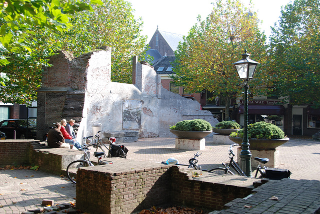 Ruin of the Vrouwekerk (Church of Our Lady) in Leiden