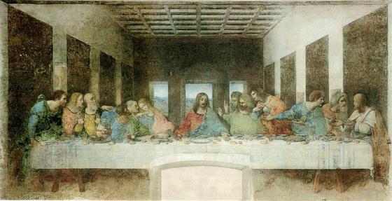 """Leonardo da Vinci (1452-1519) - """"Sankta Vespermanĝo"""" (1495-1498)"""