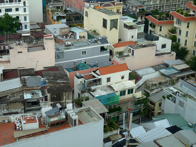 Ho Chi Minh City from the Golden Central Hotel Restaurant