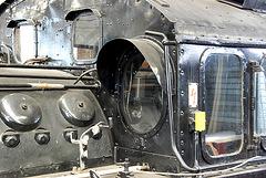 Window on the Deutsche Bundesbahn 97 502 locomotive