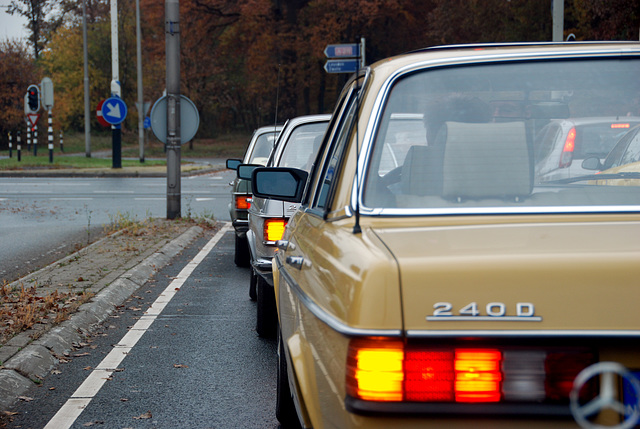 A visit to Kampen with my Mercedes Club: At a traffic light