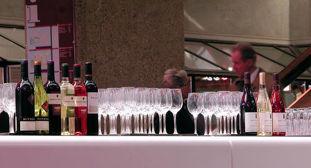 Wine bar at De Doelen theater in Rotterdam, the Netherlands