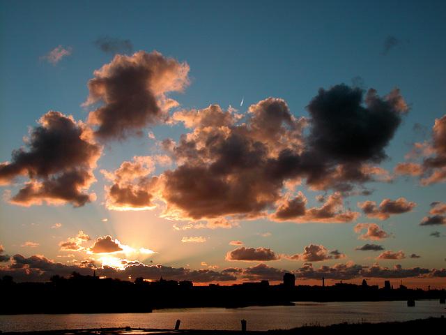 Sunset over IJmuiden