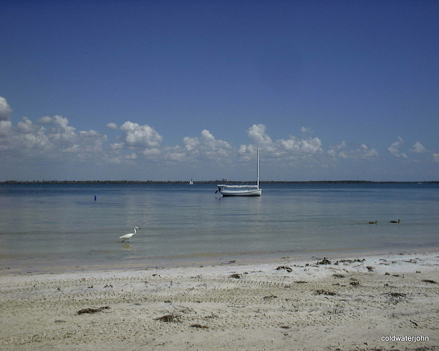 Time to unwind - view from old family beach home on Useppa Island