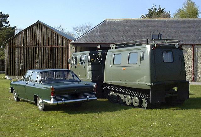 Zodiac & the BV206 outside the barn