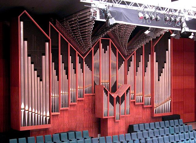 The grand organ of De Doelen theater in Rotterdam, the Netherlands